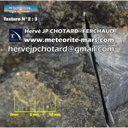 Texture N°2 Martian meteorite Dunite