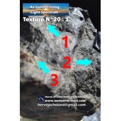 Texture N°20 - Pyrite magnesium Nickeliferous pyrite minerals