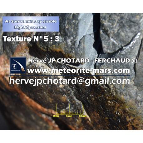 Texture N°5 croute de fusion meteorite martienne