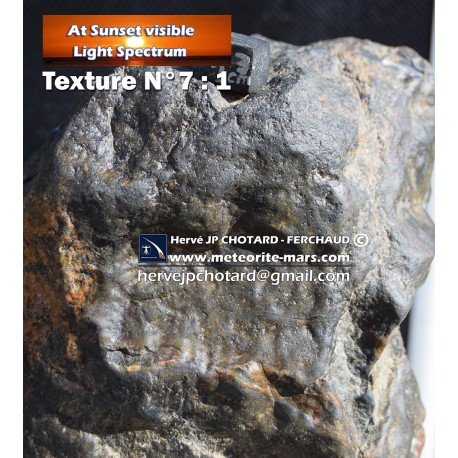 Texture N°7 - Météore parcourt l'atmosphère terrestre