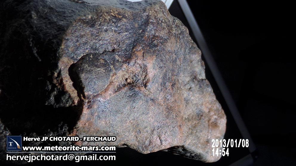météorite Chizé de mars croûte fusion