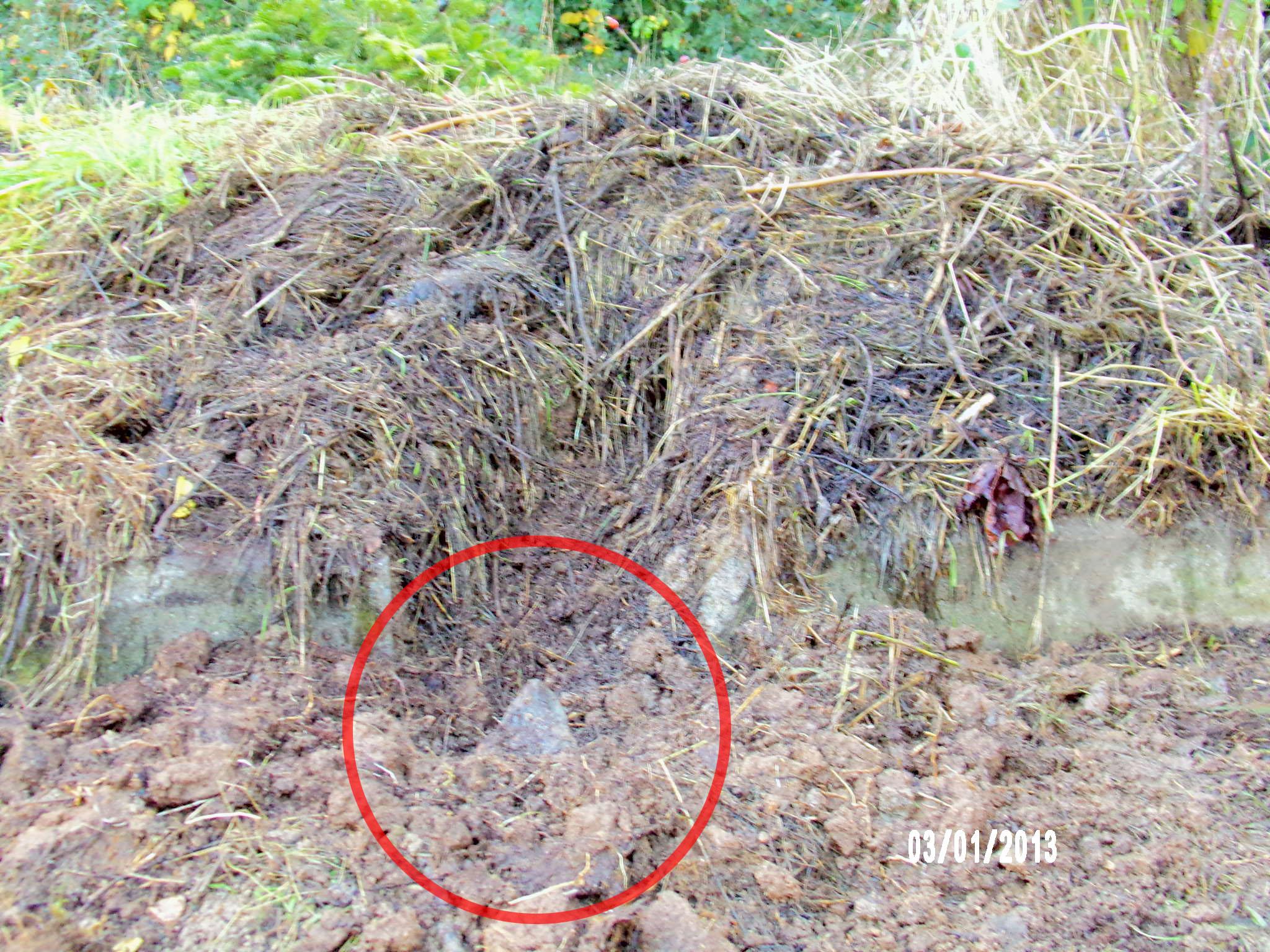 météorite dans son cratère