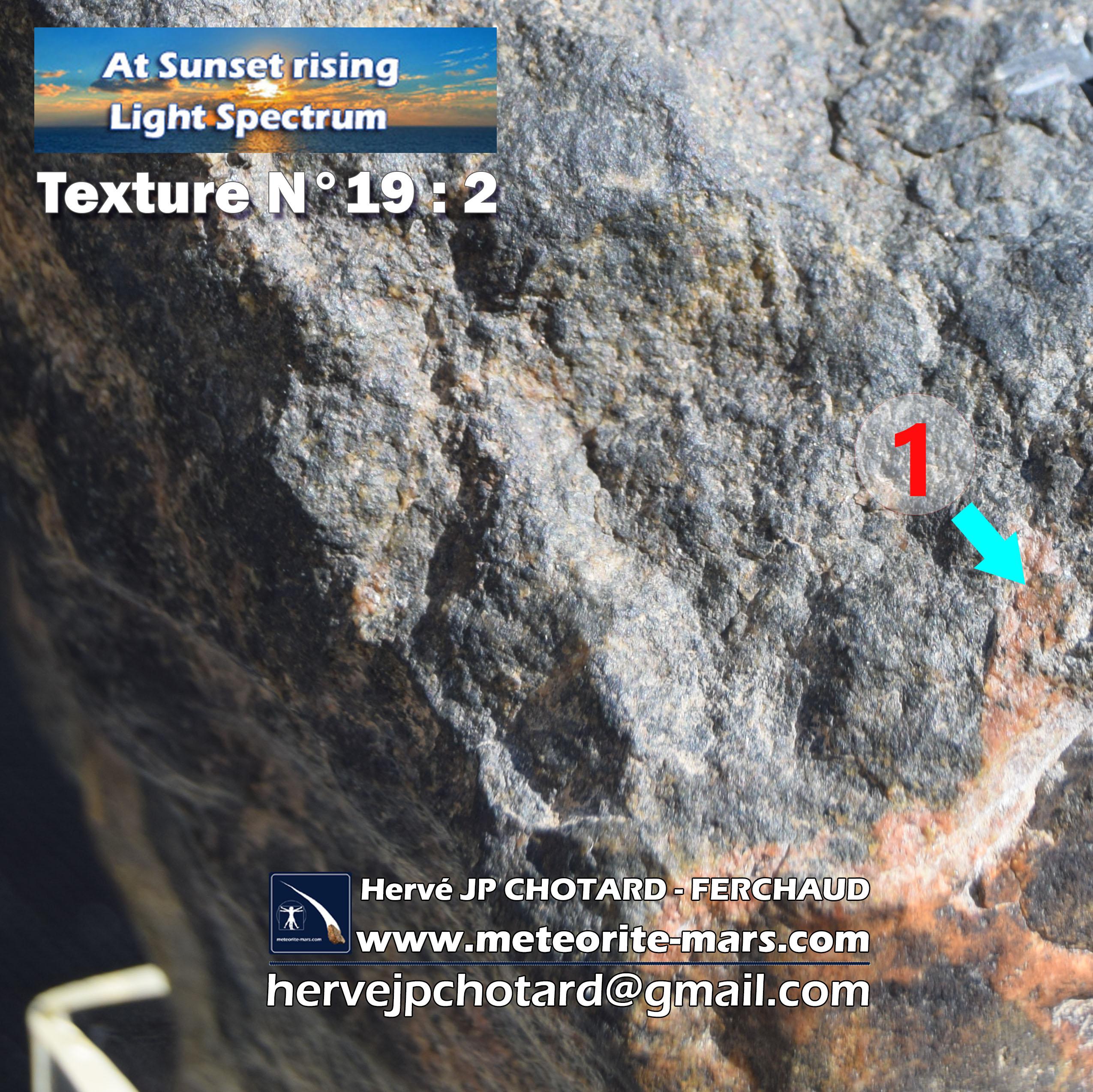 Texture N19-2- météorite de Chizé www.meteorite-mars.com