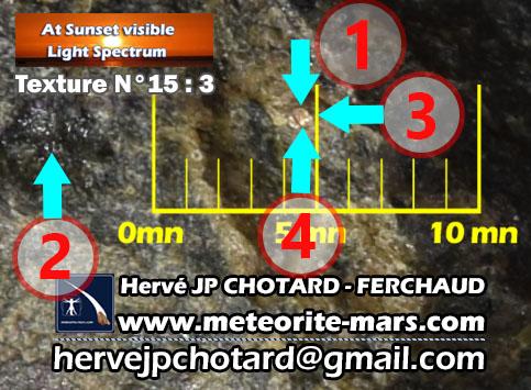 Texture N15-3 www.meteorite-mars.com météorite de chizé de mars