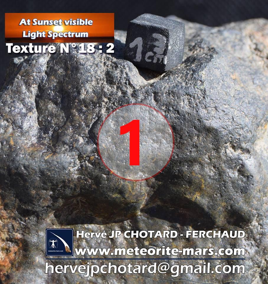Texture N18-2 météorite de Chizé www.meteorite-mars.com