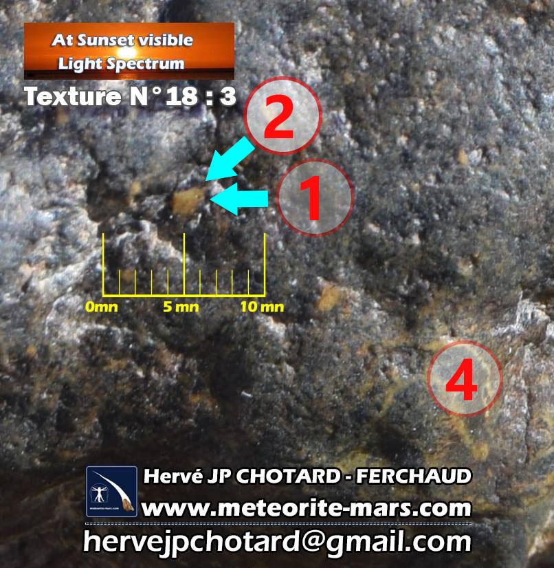 Texture N18-3 météorite de Chizé www.meteorite-mars.com