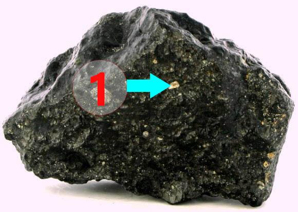 Texture comparative n 20-3-1 meteorite-mars.com meteorite chizé de mars