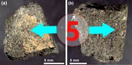 Texture comparative n 20-3-5 meteorite-mars.com meteorite chizé de mars