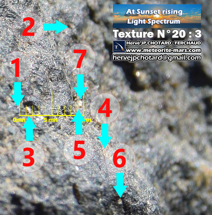 Texture n 20-3 meteorite-mars.com meteorite chizé de mars